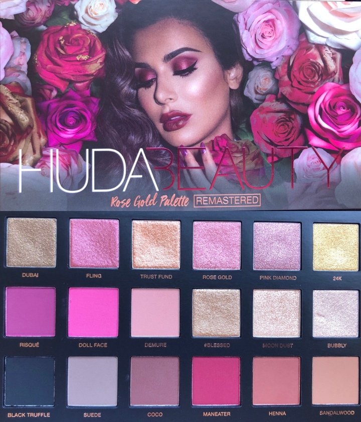 Reviewing The Huda Beauty Rose Gold Remastered Palette The Glow Medic
